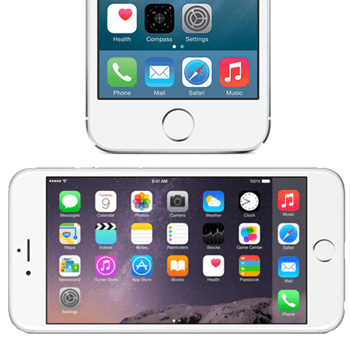 iphone-horizontal-menu